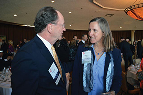 President Rush and Professor Cynthia Wyels