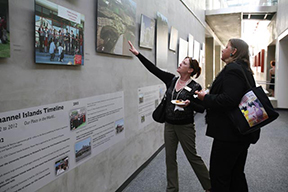 Visitors explore the 10th anniversary exhibit