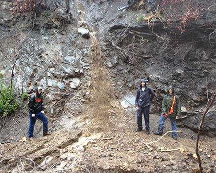 CI students research environment in Big Sycamore Canyon