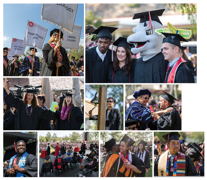 Collage of 2015 Commencement