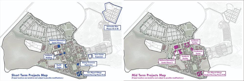 Short Term and Mid Term Projects Maps