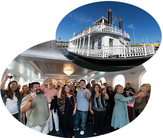 Alumni & Friends on the Scarlett Belle riverboat