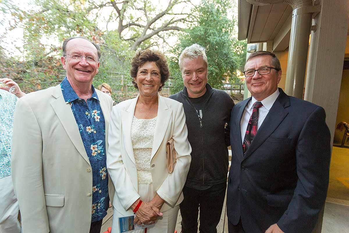 President and Jane Rush with Chris Botti and John Ryan, President & CEO of Rabobank, at the President's Dinner & Concert.