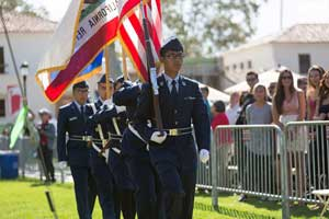 Presentation of Colors, Oxnard High School Air Force JROTC