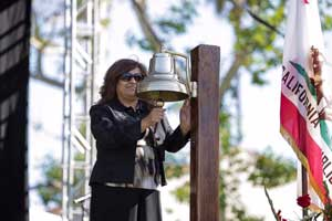 Ringing of the Navy Bell, Elizabeth A. Rubalcava, morning ceremony
