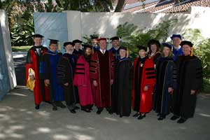 President Rush with original faculty