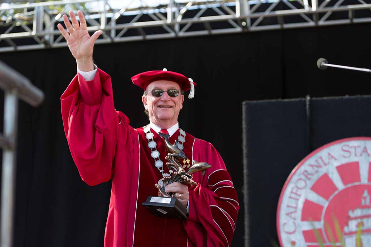 President Rush was named an honorary alum of the  Class of 2016.