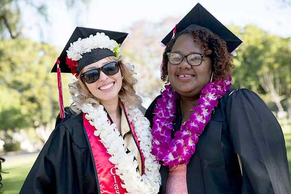 Commencement brings smiles to graduating students.