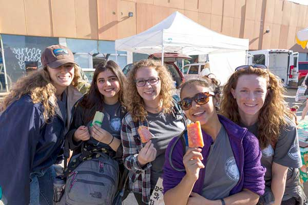 CSUCI students Katie Messerly, Alexis Marquez, Aryana Moore, Julianna Perez and Rachael Bowman