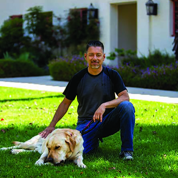 Jerry Garcia and Doc, the CSUCI campus therapy dog
