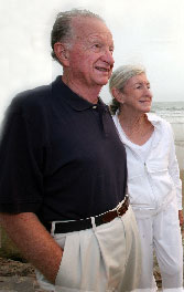 Bob and Norma Lagomarsino at the beach together