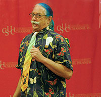 patch adams speaking while on campus at csuci