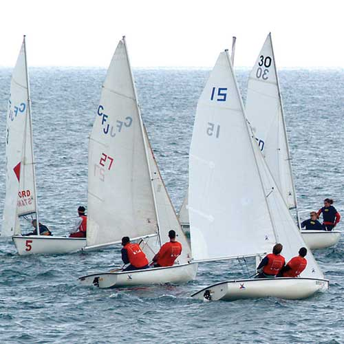 the sailing club sets sail in local waters