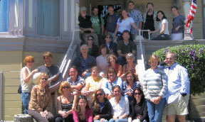 All teachers who took part in the Steinbeck Institute group together