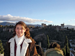 Student Adriana Luquin-Sanchez in Spain