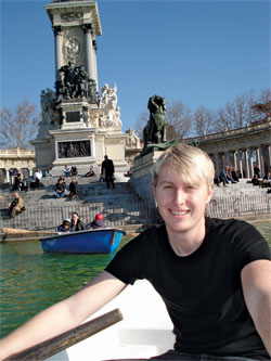 Student Chris Hoffman in Ukraine