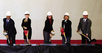CSUCI Faculty and Community members in groundbreaking ceramony