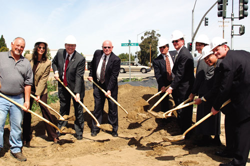 President Rush and local officials break ground for lewis road widening