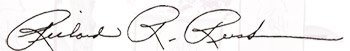 Signature of the President, Richard R. Rush