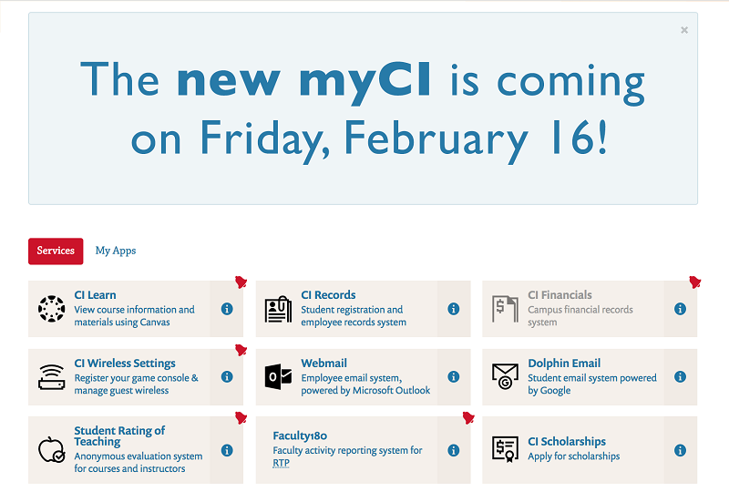 New myCI portal launches this Friday, 2/16 - News Releases - CSU