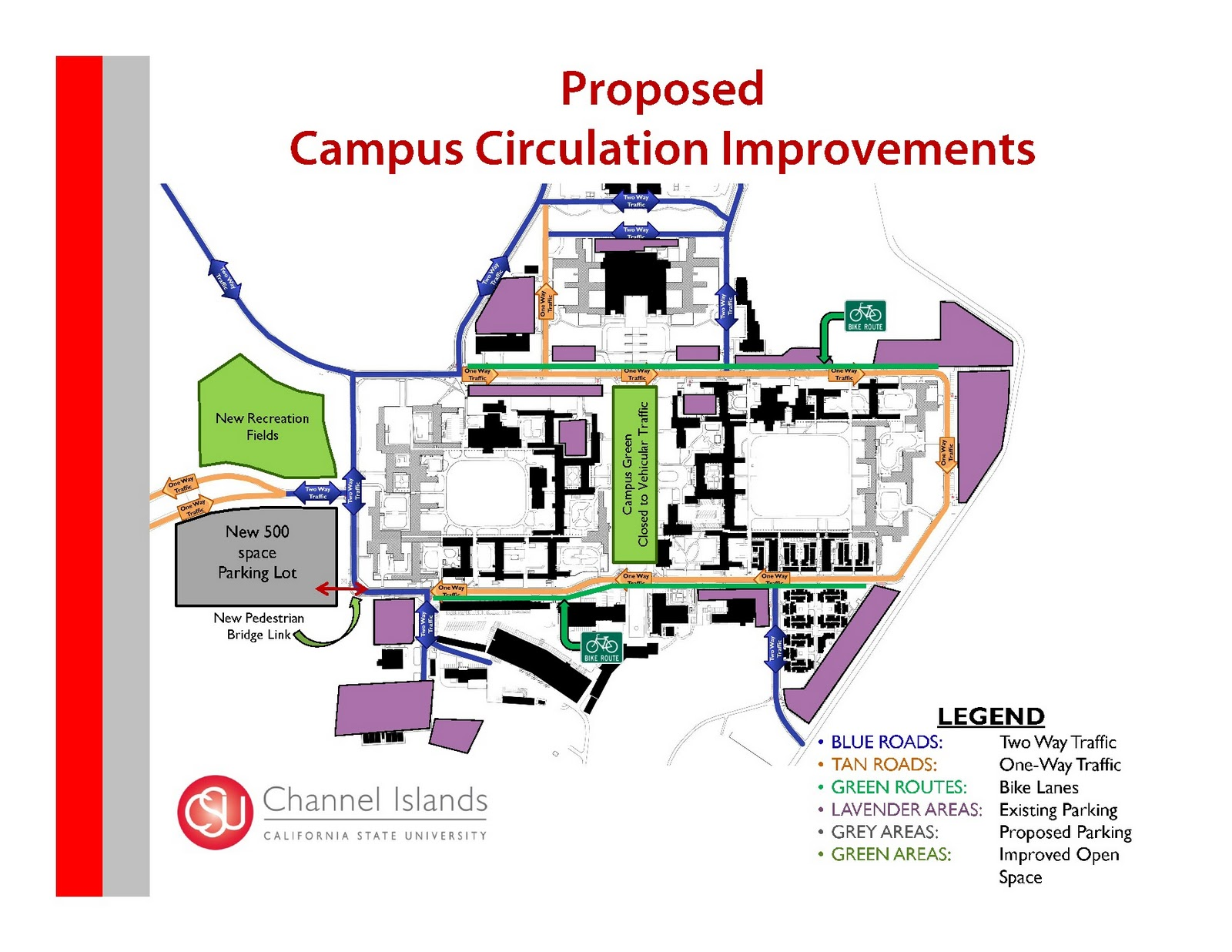 proposed campus circulation