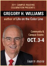 CI to host Author Gregory H. Williams Oct. 3