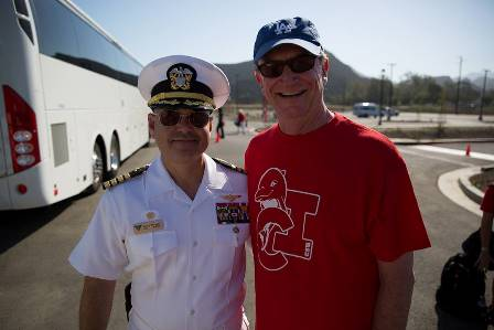 Captain Larry Vasquez, U.S. Navy & CI President Dr. Rush