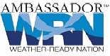 Weather ready logo with external link to web page