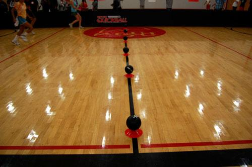 Dodgeball game setup