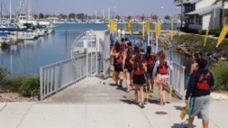 Participants walking down to the dock