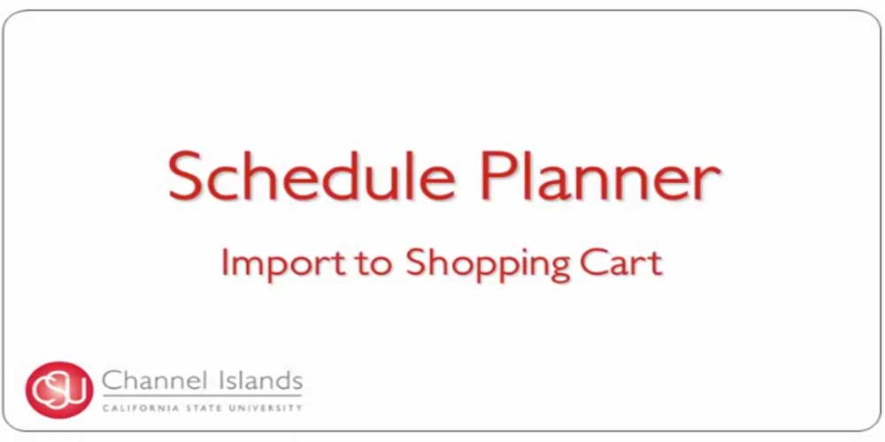 Schedule Planner Import to Shopping Cart
