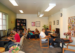 Photo of students studying in the SSS Center.