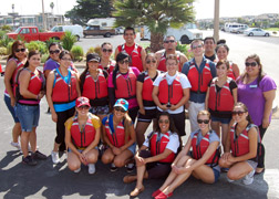 Photo of SSS students at the CI Waterfront.