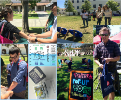 Earth Day 2016 Collage - What's On Your Plate Challenge, Trash Toss Challenge, SustainableCI Social Lifestyles Kit Winner