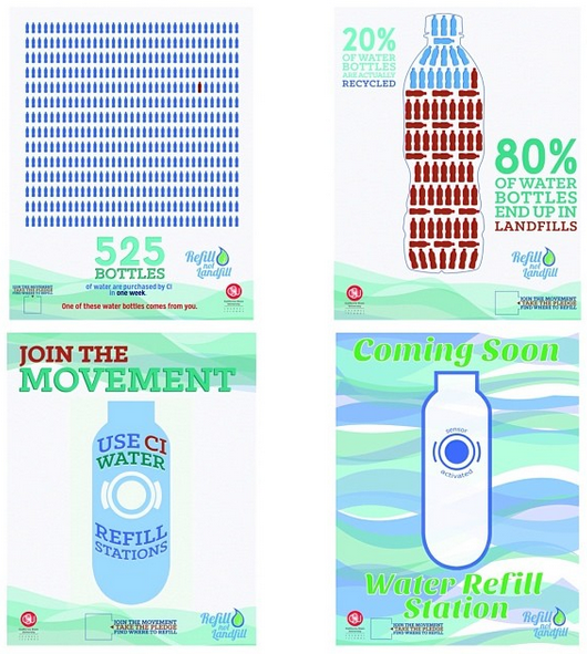 Refill Not Landfill Poster Collage