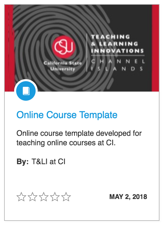 Online course template card