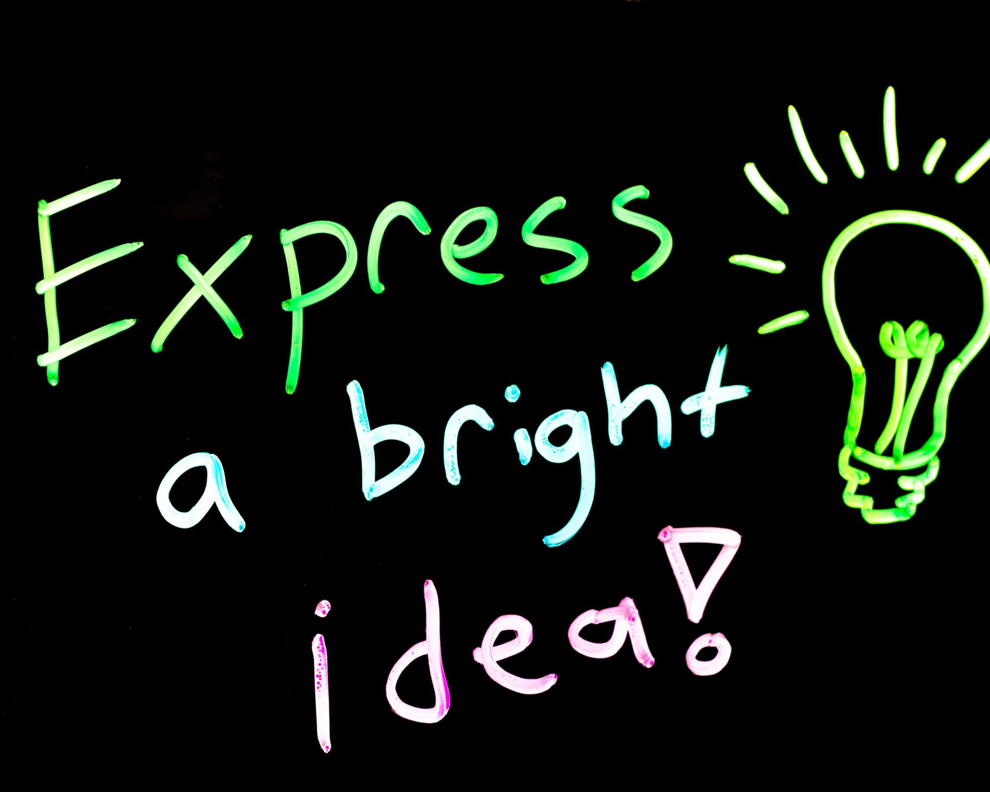 Express a bright idea with learning glass