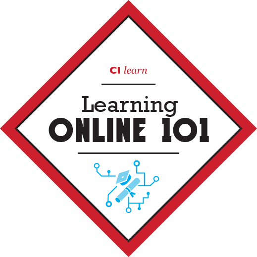 Learning online 101 badge
